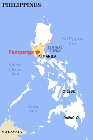 Map Showing Pampanga