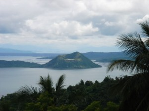Taal Volcano in a Lake