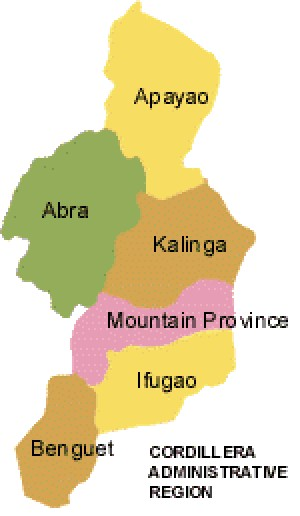 Cordillera Adminitrative Region CAR Map