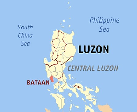 locator map Bataan