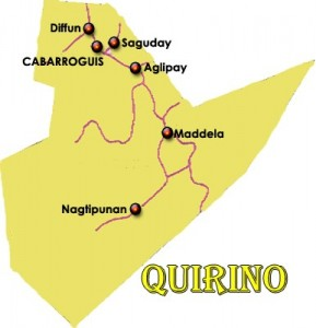 Quirino map travel to the philippines