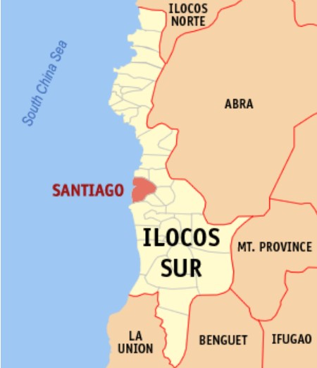 Ilocos Sur Santiago Cove map