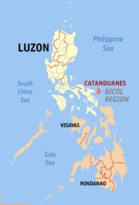 Catanduanes Locator Map